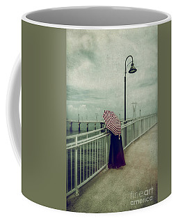 Lady With The Umbrella _texture Coffee Mug by Kathleen K Parker