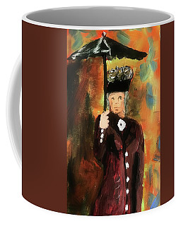 Lady With Umbrella Coffee Mug