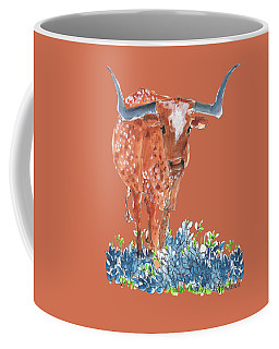Ladybug In The Bluebonnets Lh002 By Kmcelwaine Coffee Mug