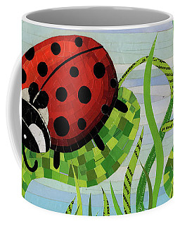 Ladybug Mosaic Coffee Mug