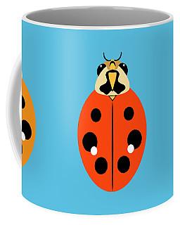 Coffee Mug featuring the digital art Ladybug Trio Horizontal by MM Anderson