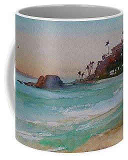 Coffee Mug featuring the painting Laguna Beach Plein Air by Sandra Strohschein
