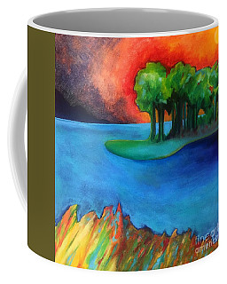 Laguna Blu Coffee Mug by Elizabeth Fontaine-Barr