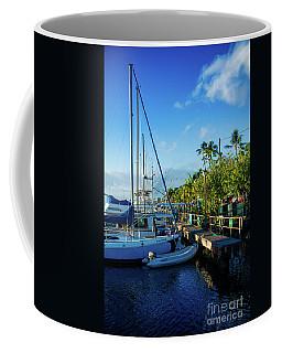 Coffee Mug featuring the photograph Lahaina Marina Blue Twilight by Sharon Mau