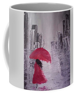 Laidy In The City Abstract Art Coffee Mug by Sheila Mcdonald