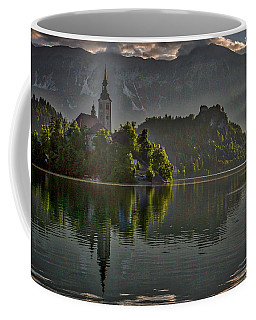 Coffee Mug featuring the photograph Lake Bled Morning #3 - Slovenia by Stuart Litoff