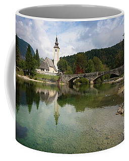 Lake Bohinj With Church In Slovenia Coffee Mug