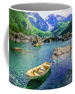 Coffee Mug featuring the photograph Lake Bondhusvatnet by Dmytro Korol