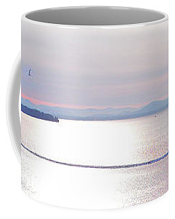 Lake Champlain South From Atop Battery Park Wall Panorama Coffee Mug