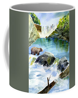 Lake Clementine Falls Bear Coffee Mug
