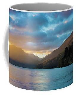 Coffee Mug featuring the photograph Lake Crescent Sunrise by Expressive Landscapes Fine Art Photography by Thom