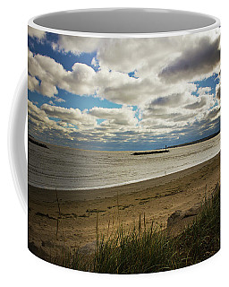 Coffee Mug featuring the photograph Lake Erie At East Harbor by Shawna Rowe