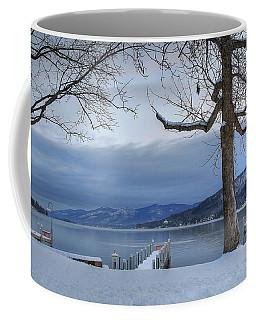 Lake George In The Winter Coffee Mug by Sharon Batdorf