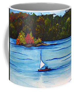 Coffee Mug featuring the painting Lake Glenville  Sold by Lil Taylor