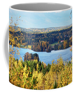 Lake Hiidenvesi Autumnscape Coffee Mug