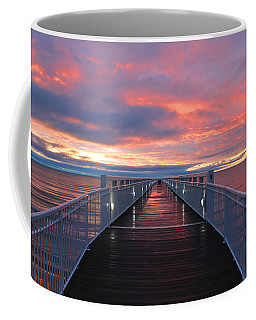 Coffee Mug featuring the photograph Lake Huron Pier by Michael Rucker
