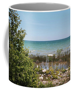 Coffee Mug featuring the photograph Lake Huron, Presque Isle Michigan by Kelly Hazel