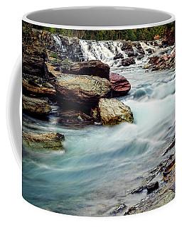 Lake Mcdonald Falls, Glacier National Park, Montana Coffee Mug
