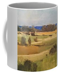 Lake Michigan Across The Field Coffee Mug