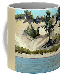 Lake Michigan Dune With Trees And Beach Grass Coffee Mug