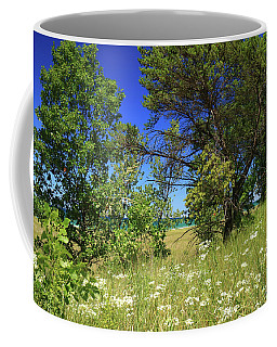 Lake Michigan Through The Trees Coffee Mug