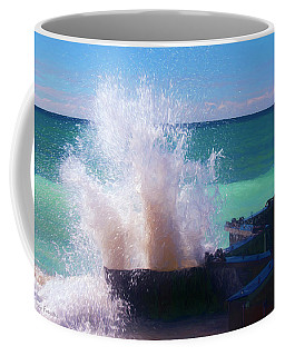Lake Michigan Wave Crash Coffee Mug