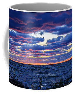 Lake Michigan Windy Sunrise Coffee Mug