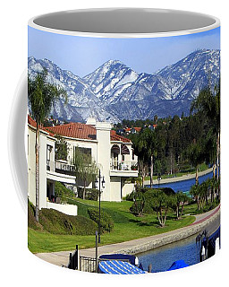 Lake Mission Viejo Snow On Saddleback Mountain Coffee Mug
