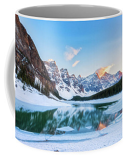 Lake Moraine Sunset Coffee Mug