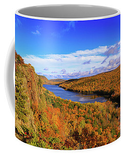 Coffee Mug featuring the photograph Lake Of The Clouds Fall Glory by Rachel Cohen