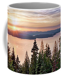 Coffee Mug featuring the photograph Lake Pend Oreille North Idaho by Leland D Howard