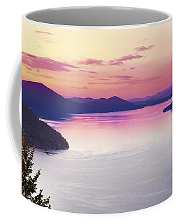 Coffee Mug featuring the photograph Lake Pend Oreille Panoramic by Leland D Howard