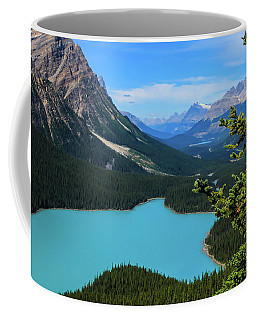 Coffee Mug featuring the photograph Lake Peyto Banff National Park Alberta Canada by Ola Allen