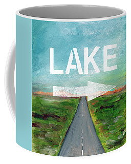 Lake Road- Art By Linda Woods Coffee Mug