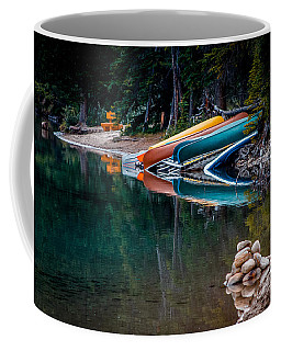Kayaks At Rest Coffee Mug