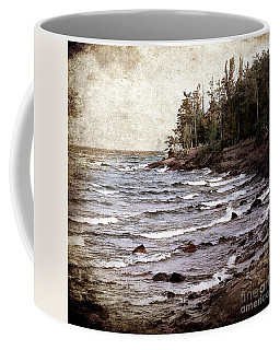 Coffee Mug featuring the photograph Lake Superior Waves by Phil Perkins