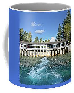 Coffee Mug featuring the photograph Lake Tahoe Dam by David Lawson