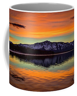 Lake Tahoe Glow Coffee Mug by Mitch Shindelbower