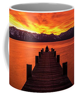 Lake Tahoe Sunset Pier By Brad Scott Coffee Mug