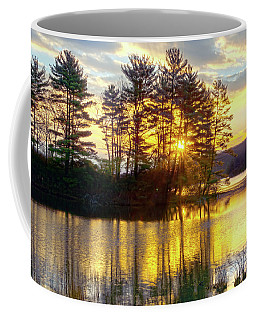 Lake Tiorati Golden Sunrise Coffee Mug