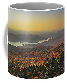 Coffee Mug featuring the photograph Lake Tremblant At Sunset by Andy Konieczny