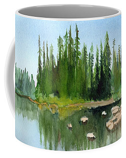 Lake View 1 Coffee Mug by Yoshiko Mishina