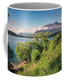 Coffee Mug featuring the photograph Lake Wakatipu New Zealand by Joan Carroll