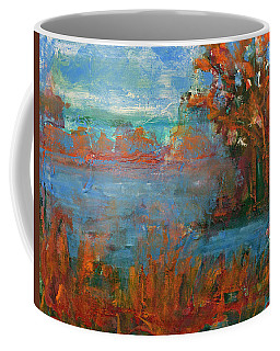 Lake Washington Fall Colors Coffee Mug by Walter Fahmy
