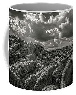 Coffee Mug featuring the photograph Lake Watson Granite Rocks Prescott Arizona Bnw 2482 by David Haskett