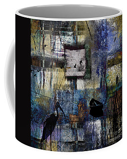 Coffee Mug featuring the digital art Lakeshore At Dawn by Nola Lee Kelsey