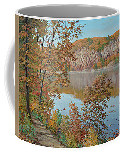 Lakeside In October Coffee Mug
