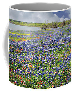 Coffee Mug featuring the photograph Lakeside Texas Bluebonnets by David and Carol Kelly