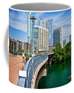 Lamar Bridge, Town Lake, And The City Of Austin, Texas Coffee Mug