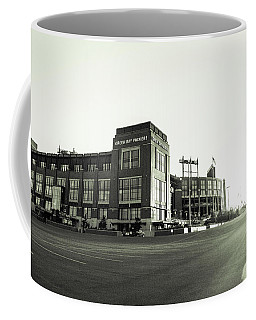 Coffee Mug featuring the photograph Lambeau Field Minimalistic by Joel Witmeyer